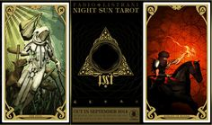 Night Sun Tarot Deck by Fabio Listrani