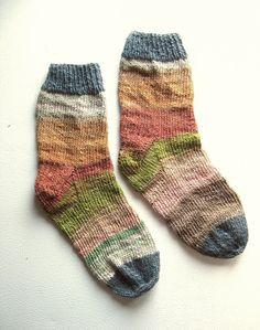 Nature Girl - Hand Knit Socks Women's Size 7.5 - 8 - 8.5