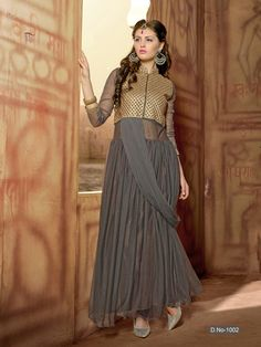Designer Gowns  Ftrendy brings to you beautiful Designer Gowns at Rs 1299/- only. Get the perfect Stylo-chic look by wearing this dress for women fromFtrendy. Made from Georgette fabric, this full-sleeved dress features Heavey Embroidery. You can team this dress with silver studded sandals to complete your diva look.Free Delivery. Safe & Secure Shopping · Easy To Return and Refund · Official eStore -www.ftrendy.com