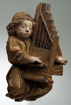 Àngel jogant òrgue (1400-1500, Musèu dels Augustins, Tolosa)