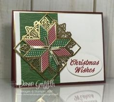 Hi Stampers, Today we will be making this beautiful Christmas card using the Christmas Quilt stamp set # 144793 along with the Quilt Builder Framelits # 144673 remember ~you can get the bundle and sav