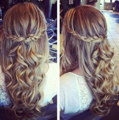 Pretty much sold on this hair for grad ❤️