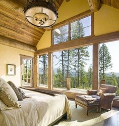 Master bedroom of my dreams!! In my dream mountain home! :)