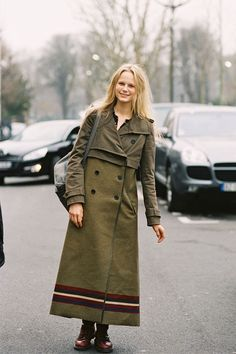 Danish model Josefine Nielsen (Elite), Paris, March 2012. - this is the prettiest coat!!!