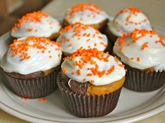 Gluten_Free Chocolate Pumpkin Marble Cupcakes