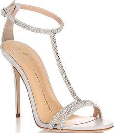 70aa0030c512 Giuseppe Zanotti Crystal T-Strap Sandals