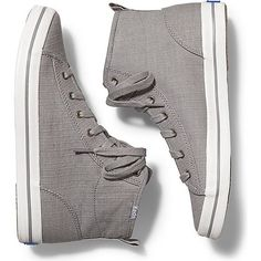 Keds KICKSTART HI RIPSTOP (€49) ❤ liked on Polyvore featuring shoes, sneakers, grey, keds shoes, keds, keds footwear, grey sneakers and gray sneakers