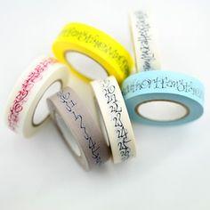 Image of Calligraphy Washi Tape