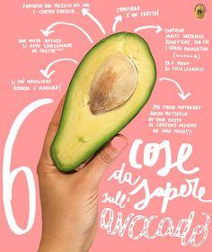 Cos'è l'avocado? Come si apre? Come si taglia? Ma soprattutto come si cucina? Mini guida sull'avocado by Patata Bollente. #avocado #typography