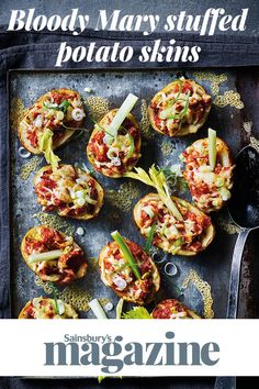 TV star and cook Milly Millbank shares her recipe for Bloody Mary loaded potato skins - perfect for a Bonfire Night party Side Recipes, Brunch Recipes, Appetizer Recipes, Potatoe Skins Recipe, Potato Skins, Bonfire Night Treats, Loaded Potato, Party Food And Drinks, Food Trends
