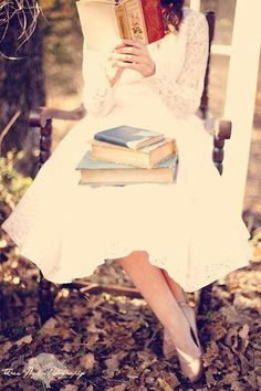 Swinging while reading.
