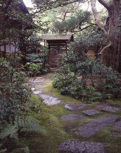 [Omote senke] tea room: Baikenmon gate.  [表千家不審菴]不審庵と内露地:梅見門