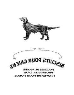 French Dog Biscuit Label - Printable Transfer - The Graphics Fairy