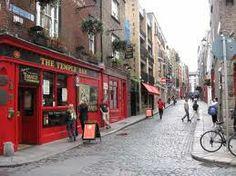 Temple Bar area of Dublin, Ireland.  Famous area of Dublin.