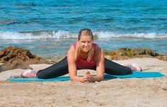 Adduktoren (Innenseite der Oberschenkel) - Stretching-Übungen für Beine und Po - gofeminin