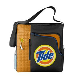 63672 - Tote with custom colored quilted panel, interior lining and earbud port. Silkscreen logo.
