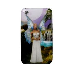 'The Faery Dell' iPhone 3 Case. A fantasy image of a winged faery by a waterfall. $34.95