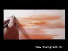 Painting Sea - watercolor demonstration