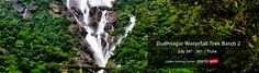 Monsoon season trekking is the most adventurous trek in - 'DudhSagar Fall'