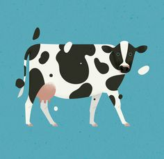 A dairy-cow! 🐄 Cows are social animals, and they naturally form large herds. Much like humans, they make friends and bond with some herd-members, while avoiding others. Cute Animal Memes, Cute Animal Videos, Animal Facts, Cow Illustration, Illustrations, Queen Anime, Frida Art, Cow Art, Cute Baby Animals