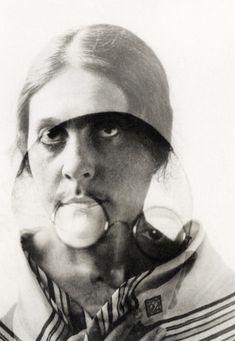 Alexander Rodchenko , Lilya Brik and Osip Brik. Double Exposure, 1924