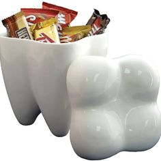 Sweet Tooth Cookie Jar - modern - food containers and storage - Grand river toys Gifts For Dentist, My Dentist, Ceramic Cookie Jar, Cookie Jars, Dental Life, Smile Dental, Dental Art, Smile Teeth, Dental Teeth
