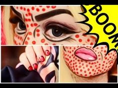 Comic Book Girl/Pop Art Halloween Tutorial | 2013