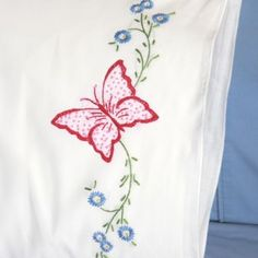 Fairway Stamped Embroidery Pillowcases