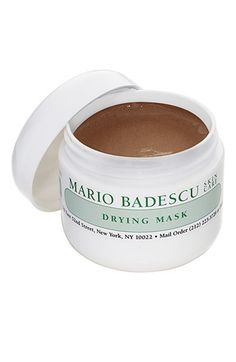 Mario Badescu Drying Mask. I use this when I'm having hormonal breakouts. Really shrinks down zits and calms my skin down.