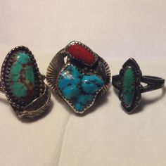 Found great vintage rings for men and women on my recent trip out west!