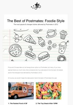 #email design from Postmates