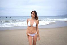 Classic Micro Bikini Set Black Bikini White by SassyandCool