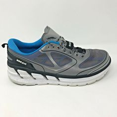 9abaa10a35a Hoka One One Mens Size 10 Conquest Gray Blue Trail Running Shoes Sneakers   HokaOneOne  RunningShoes