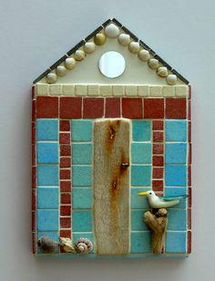 Seagull Beach Hut Mosaic Wall Art by Rana Cullimore www.ranacullimore.co.uk