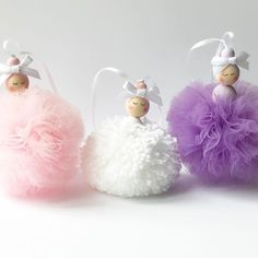 Hi all sharing a lovely customer order that was sent out this week. I love these 3 Pom Pom Ballerinas together. Christmas Pom Pom, Christmas Trees For Kids, Xmas Crafts, Diy And Crafts, Pom Pom Animals, Nursery Accessories, Pom Pom Crafts, Fairy Dolls, Felt Dolls