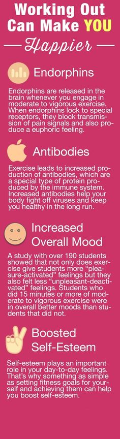 More reasons to stay healthy. =) Workout and improve your mood | Weight Loss Infographics