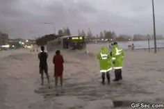 GIF: Almost hit by a car - www.gifsec.com
