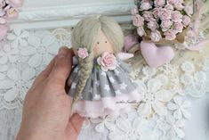 A doll for travel. A little rag angel. Fairy Dolls, Beautiful Dolls, Etsy Seller, Textiles, Crafty, Embroidery, Handmade Gifts, Fabric, Travel