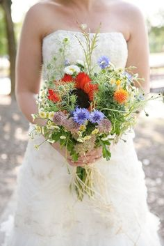 Wild Flower Bouquets | 15 Crucial Items You Need On Your Wedding Day, According To Pinterest