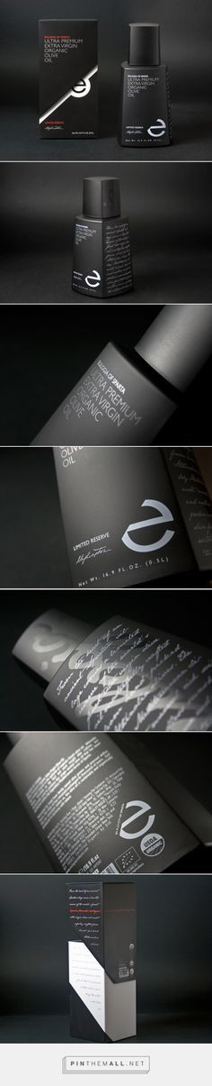 PAD Ultra Premium Extra Virgin Organic Olive Oil by Eulogia of Sparta curated by Packaging Diva PD. Another beautiful packaging design concept.