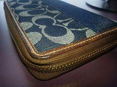 Coach Denim signature zip around wallet Limited Edition Anniversary $84