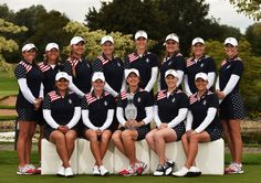 Paula Creamer and Brittany Lincicome Photos Photos - (back row left to right) Gerine Piller, Angela Stanford, Alison Lee, Brittany Linicome, Michelle Wie, Lexi Thompson, Brittany Lang and Paula Creamer. (front row left to right) Lizette Salas, Stacy Lewis, Team USA Captain Juli Inkster, Morgan Pressel and Cristie Kerr of Team USA pose for a photograph prior to the start of the Solheim Cup at St Leon-Rot Golf Club on September 15, 2015 in St. Leon-Rot, Germany. - The Solheim Cup - Previews
