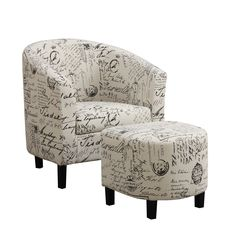 Emory Barrel Chair and Ottoman