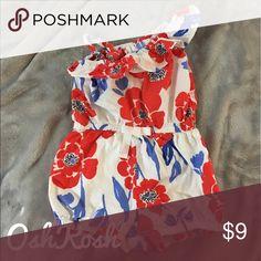 ☀️BOGO FREE all kids' items!☀️ OshKosh one piece poppy romper Osh Kosh Bottoms Jumpsuits & Rompers