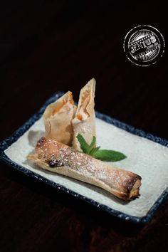 Mango & White Chocolate Cigars.   Find the recipe here: http://www.iatemywaythrough.com/2010/11/mango_cigars/
