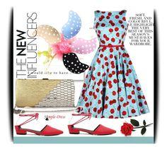 """""""simple dress 24"""" by ajsajunuzovic ❤ liked on Polyvore featuring Folio, vintage and simpledress"""