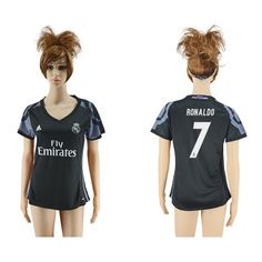 Real Madrid Fodboldtøj Dame 16-17 Cristiano Ronaldo 7 TRødje Trøje Kortærmet.  http://www.fodboldsports.com/real-madrid-fodboldtoj-dame-16-17-cristiano-ronaldo-7-trodje-troje-kortermet.  #fodboldtrøjer