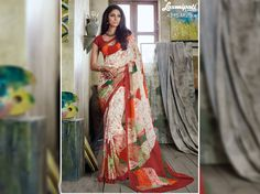Get this stunning multicolor georgette digital floral printed sarees along with unstitched red blouse from Laxmipati Saree. #Catalogues- #SONPARI Price - Rs.1069.00 Visit for more designs@ www.laxmipati.com #ReadyToWear #OccasionWear #Ethnicwear #FestivalSarees #RakshaBandhan #Fashion #Fashionista #Couture #SONPARI0816 #LaxmipatiSaree #autumn #winter #women #her #she #mystery #lingerie #black #lifestyle #life… Laxmipati Sarees, Georgette Sarees, Kurti, Catalog Online, Printed Sarees, Buy Prints, Office Wear, Daily Wear, Bridal Collection