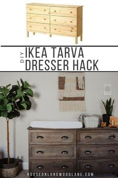 Ways To Use That Room Below Your Stairs Diy Ikea Tarva Dresser Hack, Ikea Hack, Dresser Changing Table Diy Furniture Ikea, Farmhouse Furniture, Furniture Stores, Furniture Movers, Furniture Outlet, Furniture Cleaning, Cheap Furniture, Discount Furniture, Furniture Ideas