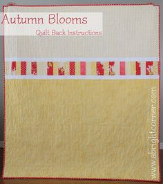 Autumn Blooms Quilt Back